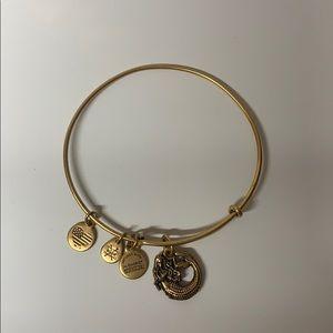 Alex and Ani mermaid charm bracelet, gold